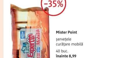 Servetele curatare mobila Mister Point