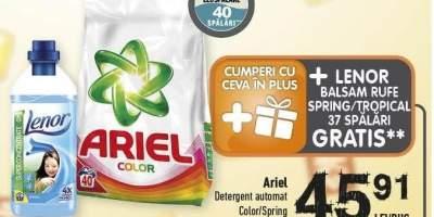 Detergent automat Ariel + Balsam de rufe Lenor