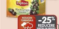 Lipton ceai negru/ coacaze negre/ capsuni/ lamaie