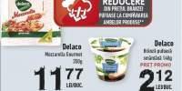50% reducere Mozzarella Gourmet Delaco + Branza pufoasa smantana, Delaco