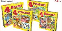 4 basme / 4 prieteni Set cu 4 puzzle-uri