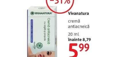 Crema antiacneica, Vivanatura