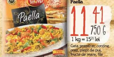 Preparat la tigaie Paella, Sol Y Mar