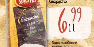Supa de legume Gazpacho, Sol Y Mar