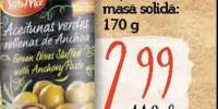 Masline verzi cu pasta de ansoa, Sol y Mar