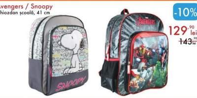 Ghizdan scoala Avengers/ Snoopy