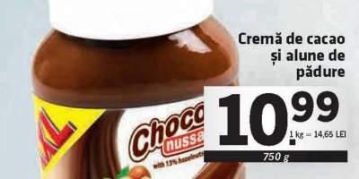 Crema de cacao si alune de padure