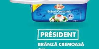 Branza cremoasa, President
