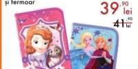 Penar cu 2 compartimente si fermoar Printesa Sofia/Frozen