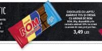 Ciocolata cu lapte/ amaruie 75% si crema cu aroma de rom