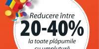 Reducere intre 20-405 la toate plapumile cu umplutura naturala