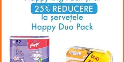 Ai reducere cand cumperi scutece Happy Big Pack!