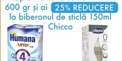 Ai reducere can cumperi lapte Humana Junior Milk
