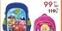 Ghiozdan scoala echipat Cars/Barbie