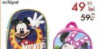 Ghiozdan gradinita echipat Mickey Mouse/Minnie Mouse