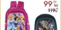 Ghiozdan scoala Disney Princess/Monster high