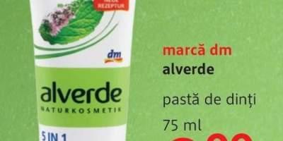 Pasta de dinti, marca dm Alverde