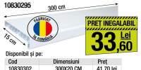 Glaf PVC exterior alb lucios