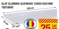 Glaf aluminiu alb/ maro