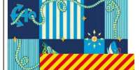 Covor PPR Kids mare albastru