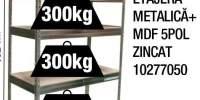 Etajera metalica + MDF 5POL zincat