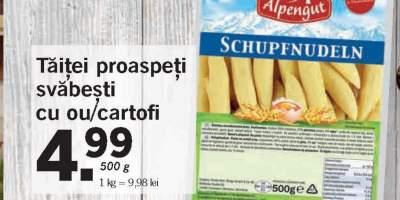 Taitei proaspeti svabesti cu ou/ cartof, Alpengut