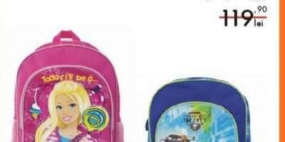 Ghiozdan scoala echipat Barbie/ Cars