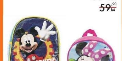 Ghizdan scoala echipat Mickey Mouse/ Minnie Mouse