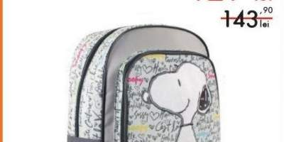Ghiozdan scoala Snoopy