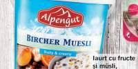 Iaurt cu fructe si cu musli, Alpengut