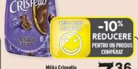 Milka Crispello praline cu napolitane si crema cacao/ vanilie