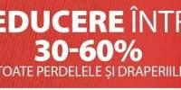 30-60% reducere la toate perdelele si draperiile