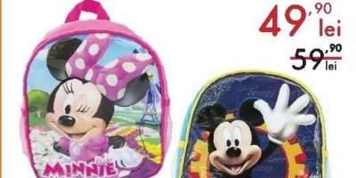 Ghiozdan gradinita echipat Minnie Mouse/ Mickey Mouse