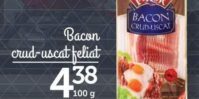 Bacon crud-uscat feliat, Pikok