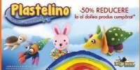 50% reducere la al doilea produs Plastelino cumparat