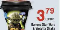Iaurt cu aroma de capsune, Danone Star Wars&Violetta Shake