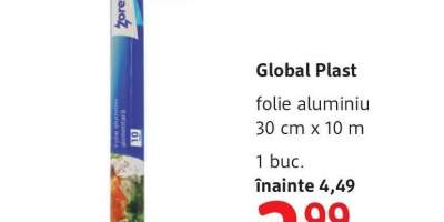 Folie aluminiu Global Plast