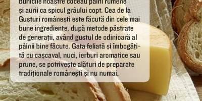 Paine cu cascaval, Gusturi Romanesti
