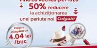 50% reducere la achizitionarea unei periute noi Colgate