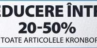 Reducere intre 20-50% la toate artcolele Kronborg