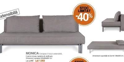 Canapea extensibila 3 locuri, Monica