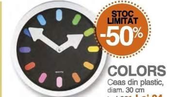 Ceas din plastic, Colors