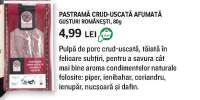 Pastrama crud-uscata Gusturi Romanesti