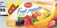 Iaurt cu fructe, cu continut redus de grasime
