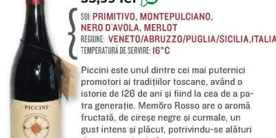 Piccini Memero Rosso (Numai la Mega Image Bucuresti Mall)
