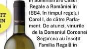 Elite, Domeniul Coroanei Segarcea - Tamaioasa Romaneasca