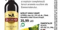 Licorna Merlot Single Grape si Delaco Emmentaler