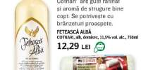 Cotnari Feteasca alba si Delhaize - branza de capra, rulou clasic