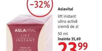 Crema de zi Lift instant ultra activa, Aslavital