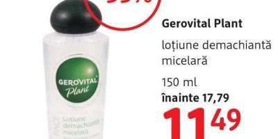 Lotiune demachianta micelara, Gerovital Plant